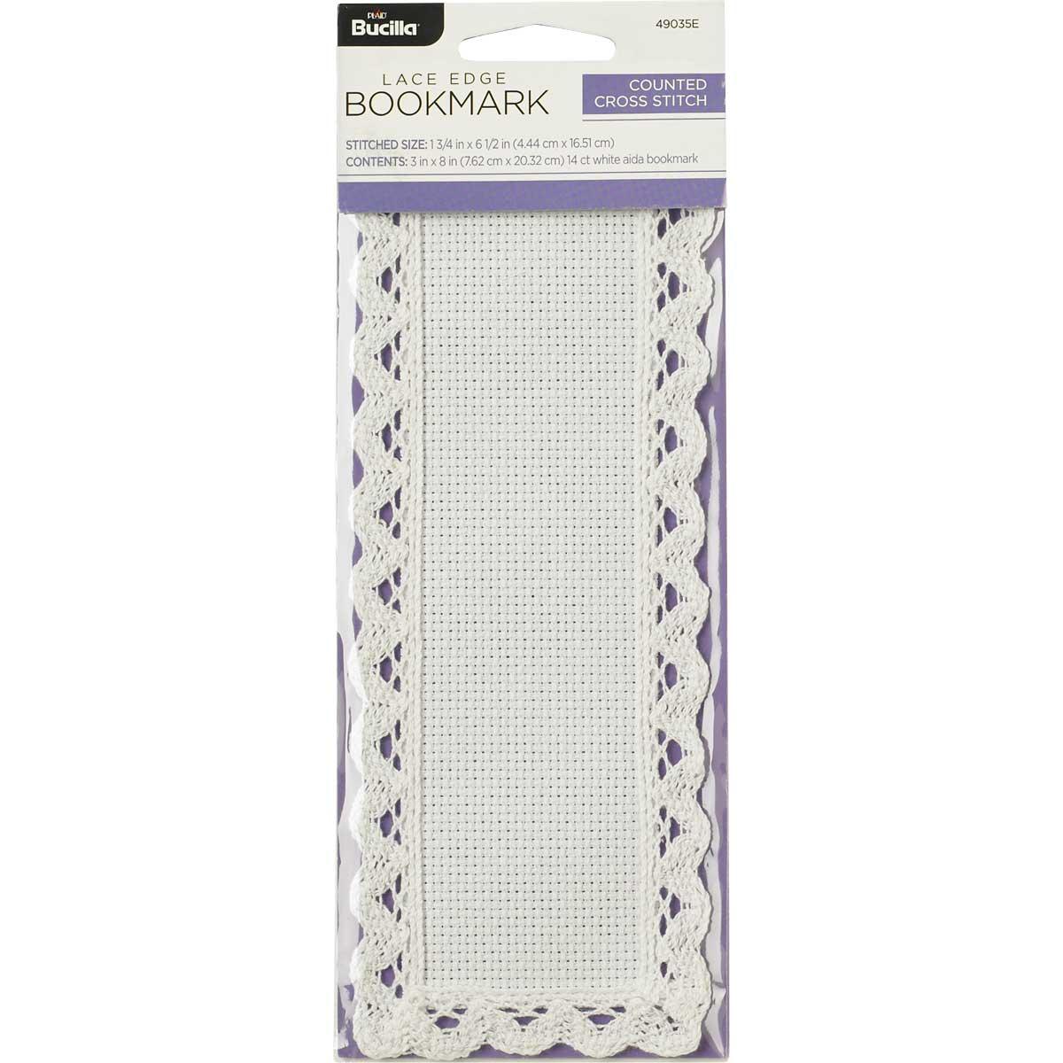 Bucilla ® Ready to Stitch™ Blanks - Lace Edge Bookmark, 1-3/4