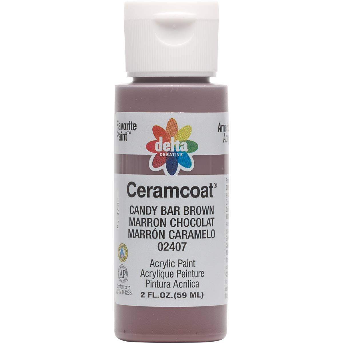 Delta Ceramcoat ® Acrylic Paint - Candy Bar Brown, 2 oz. - 024070202W