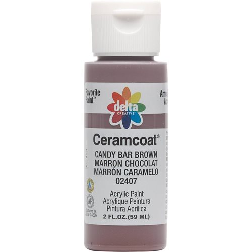 Delta Ceramcoat ® Acrylic Paint - Candy Bar Brown, 2 oz.