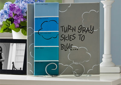 Gray Skies Paint Chip Canvas with FolkArt Multi-Surface