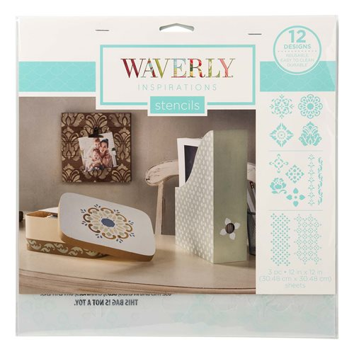 "Waverly ® Inspirations Laser Stencils - Décor - Medallions, 12"" x 12"""
