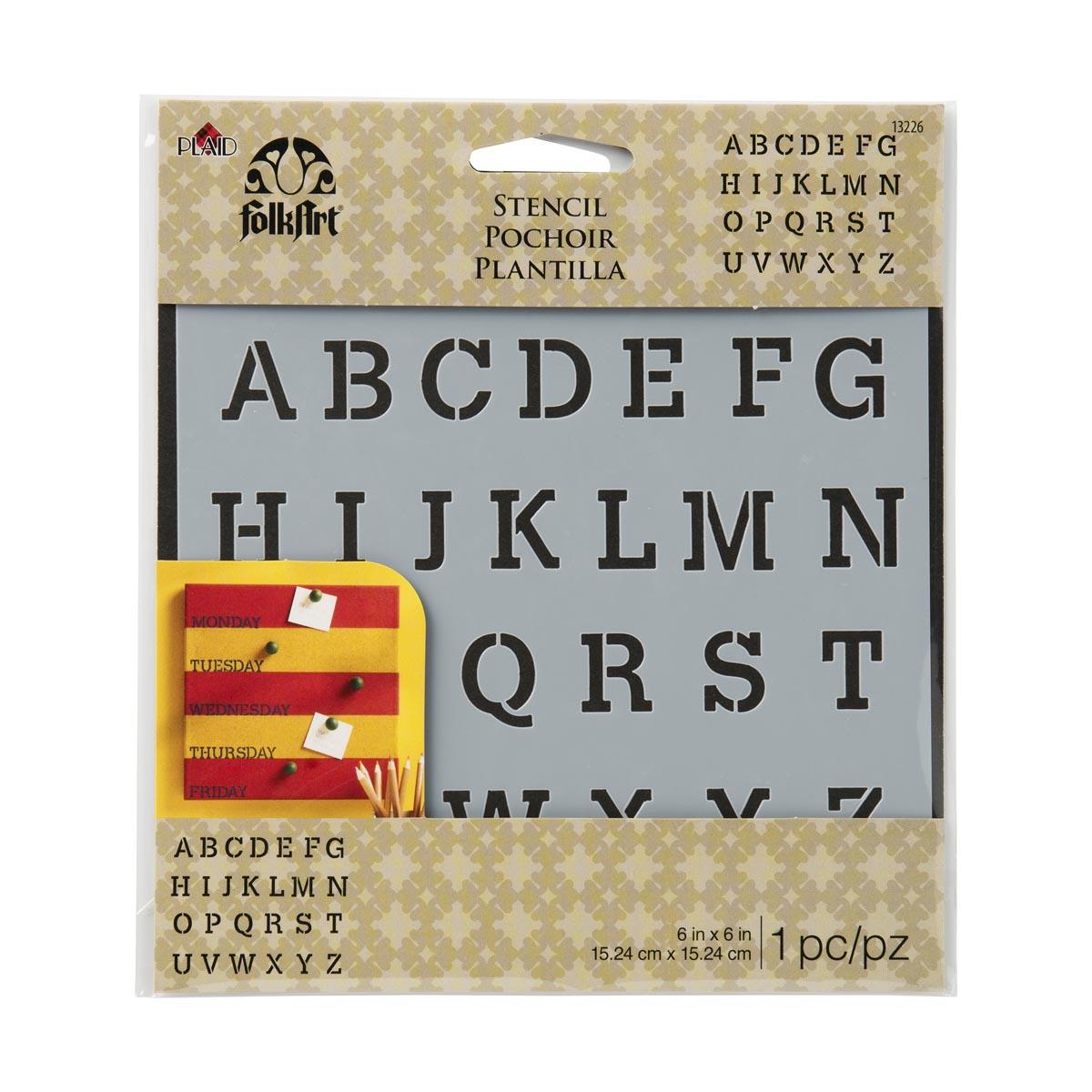 FolkArt ® Painting Stencils - Small - Serif Alphabet