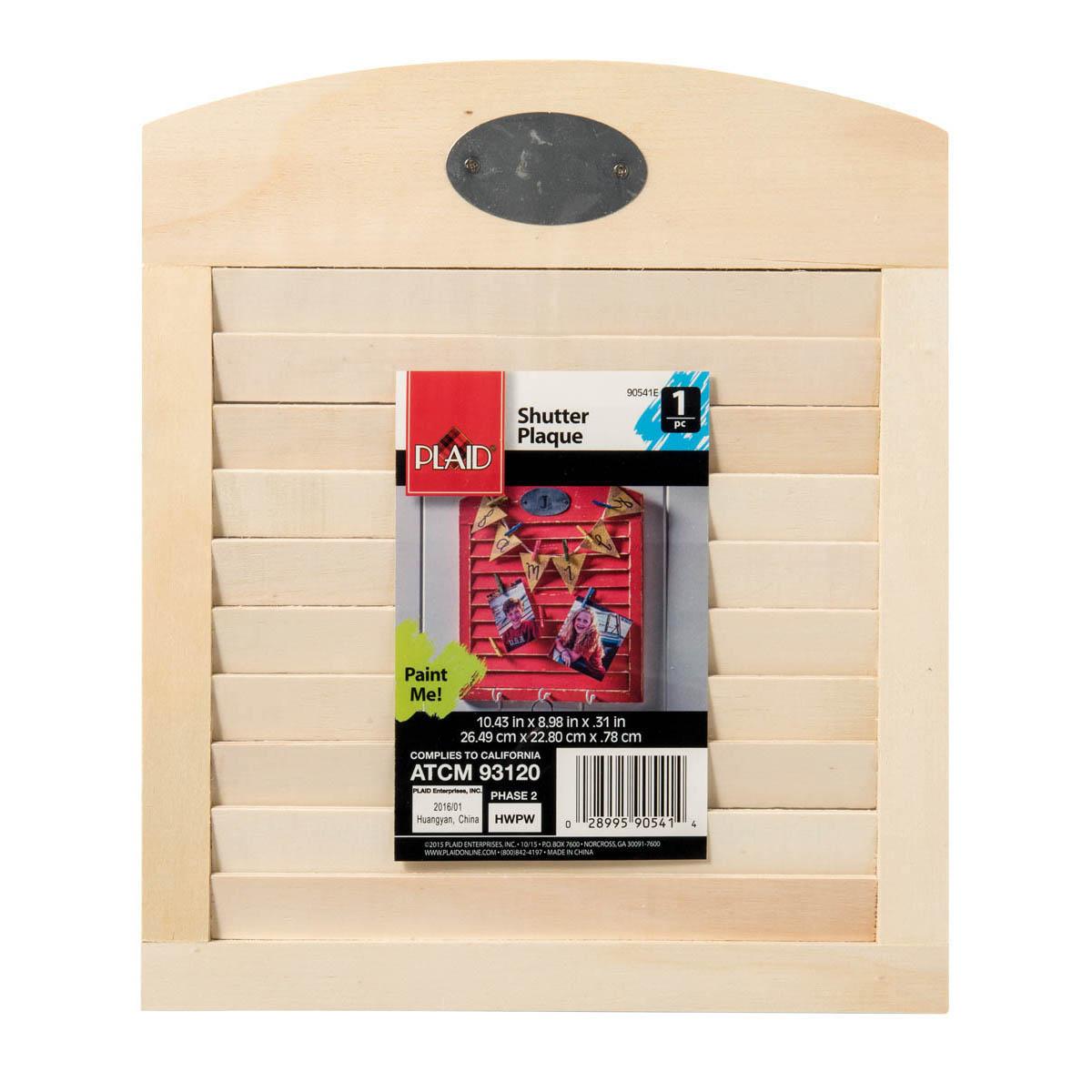 Plaid ® Wood Surfaces - Plaques - Shutter