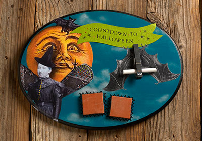 Countdown to Halloween Plaque with FolkArt Multi-Surface Paint