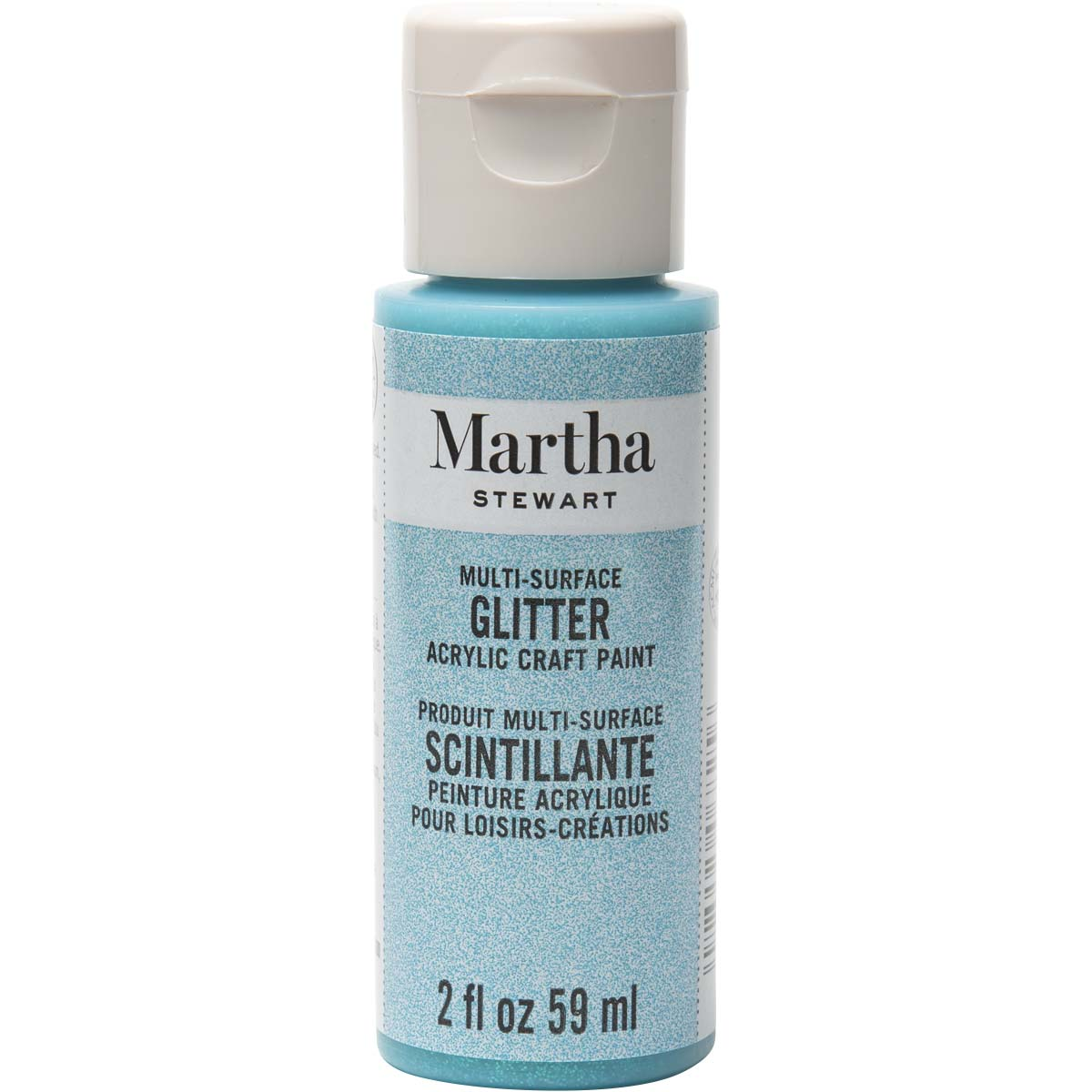 Martha Stewart ® Multi-Surface Glitter Acrylic Craft Paint - Blueberry Slush, 2 oz. - 32146CA