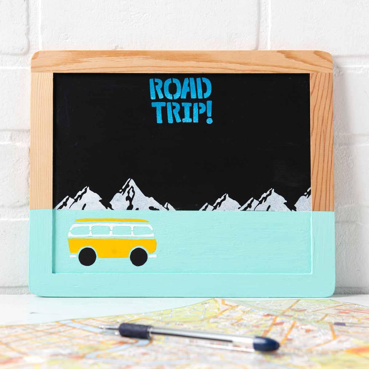 Road Trip Chalkboard Sign DIY