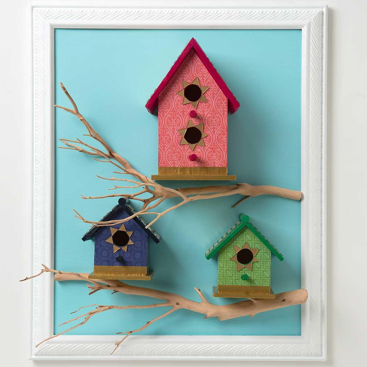 Tiled Birdhouses with Mod Podge Ultra