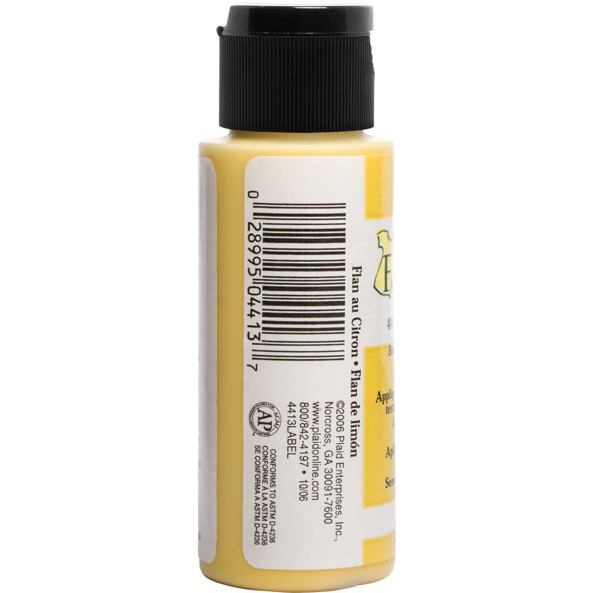 FolkArt ® Fabric™ Paint - Brush On - Lemon Custard