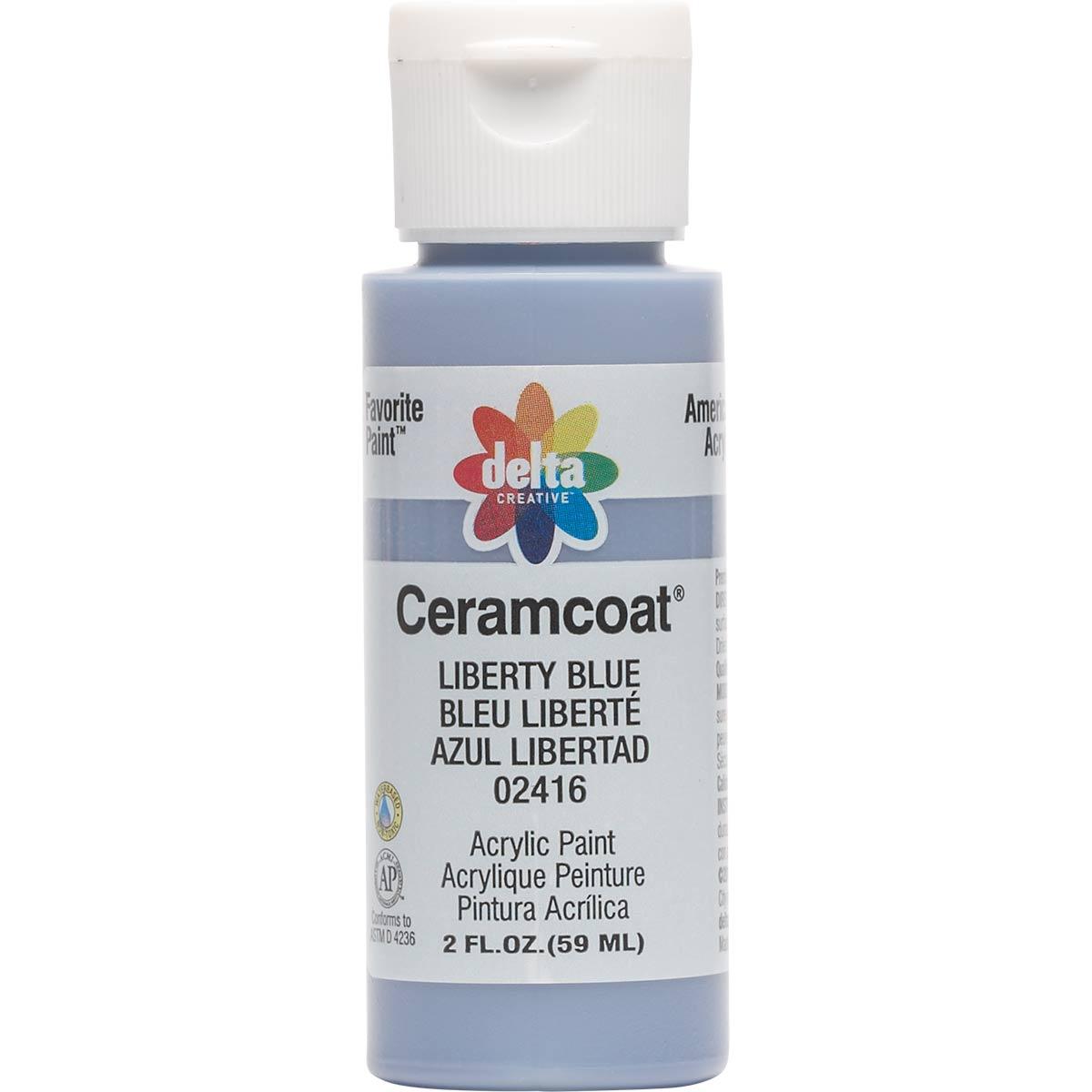 Delta Ceramcoat ® Acrylic Paint - Liberty Blue, 2 oz. - 024160202W
