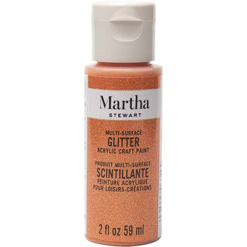 Martha Stewart ® Multi-Surface Glitter Acrylic Craft Paint - Orange Sorbet, 2 oz. - 32155CA
