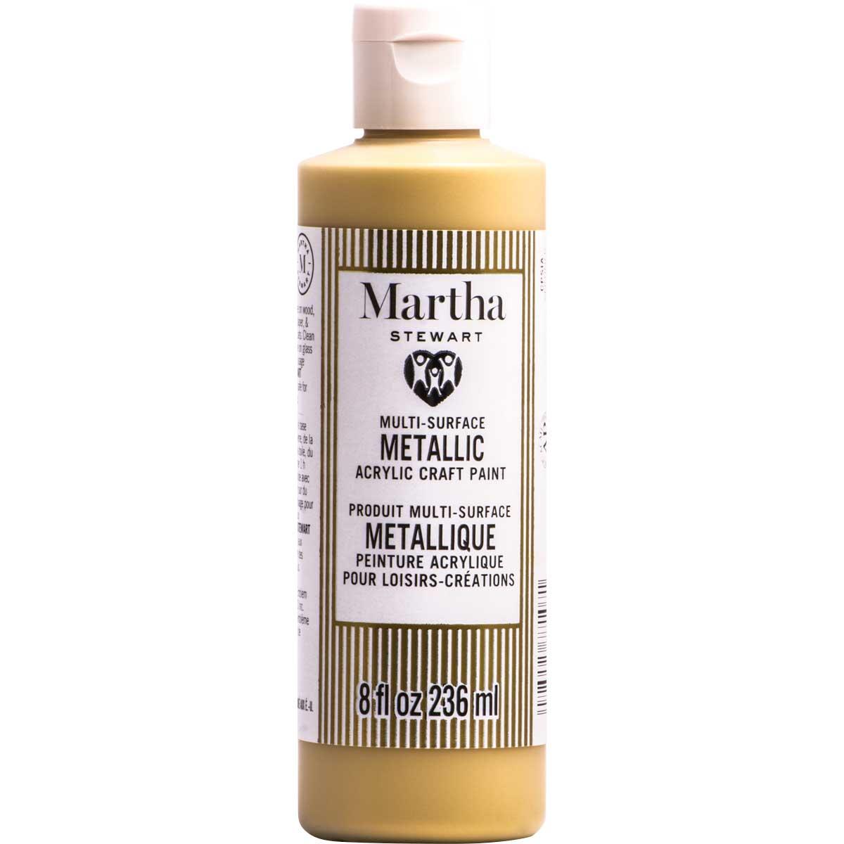 Martha Stewart ® Multi-Surface Metallic Acrylic Craft Paint CPSIA - Royal Gold, 8 oz.