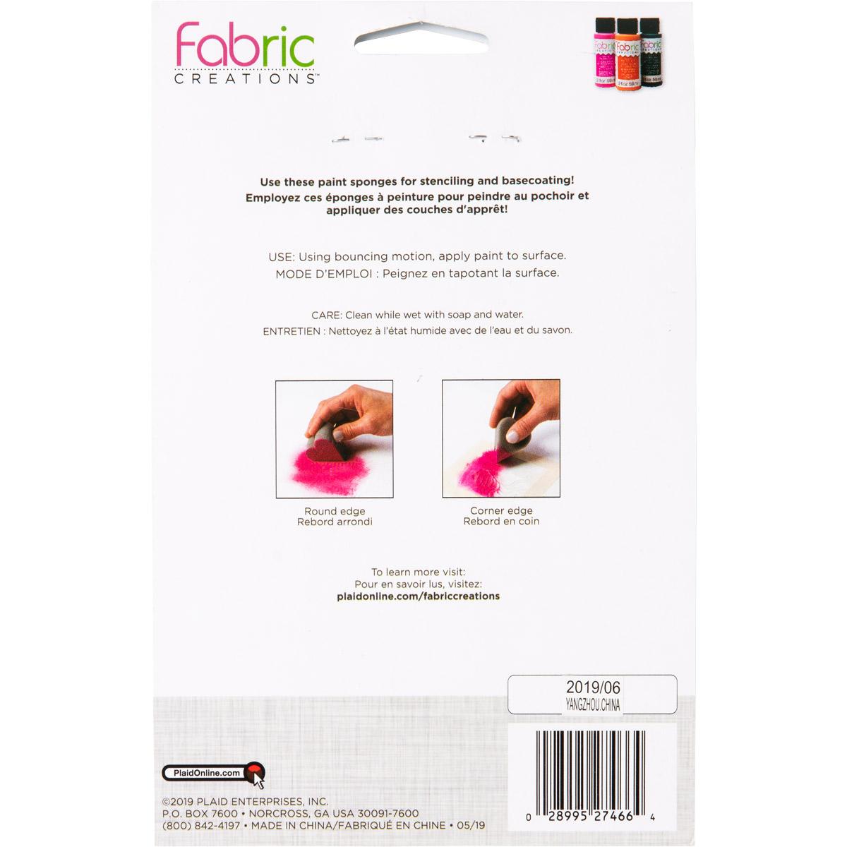 Fabric Creations™ Tools - Heart Shaped Sponge Applicators, 6 pc.