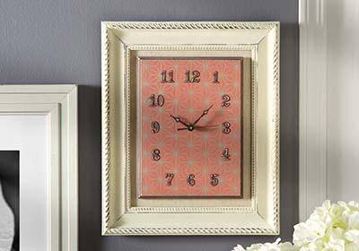 Home Decor Chalk Framed Clock