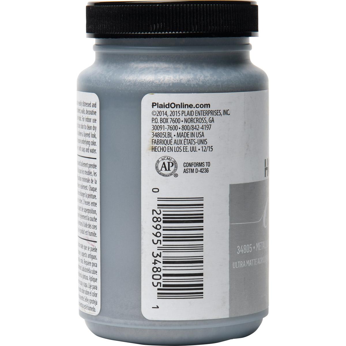 FolkArt ® Home Decor™ Chalk - Metallic Silver, 8 oz. - 34805