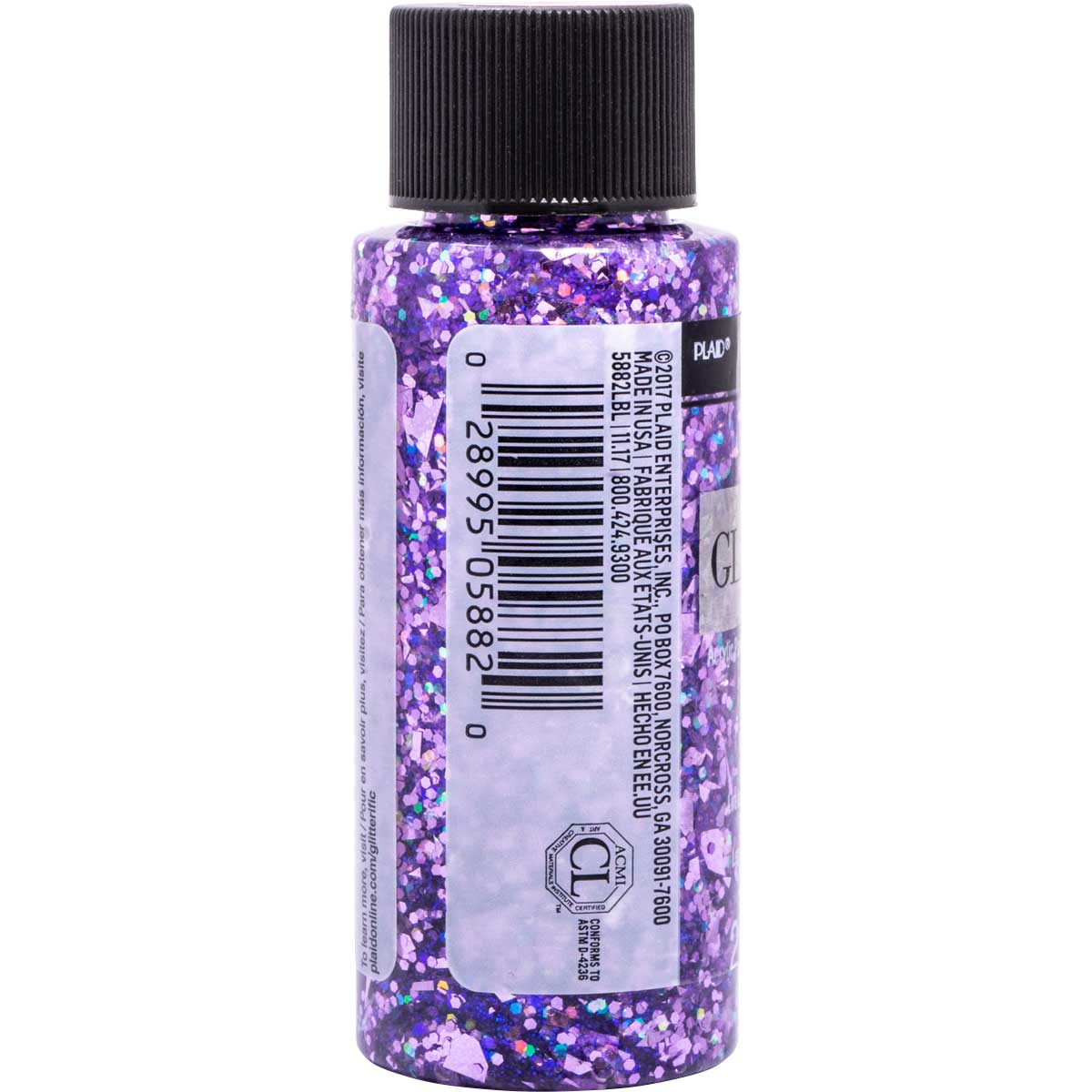 FolkArt ® Glitterific™ Acrylic Paint - Purple, 2 oz. - 5882