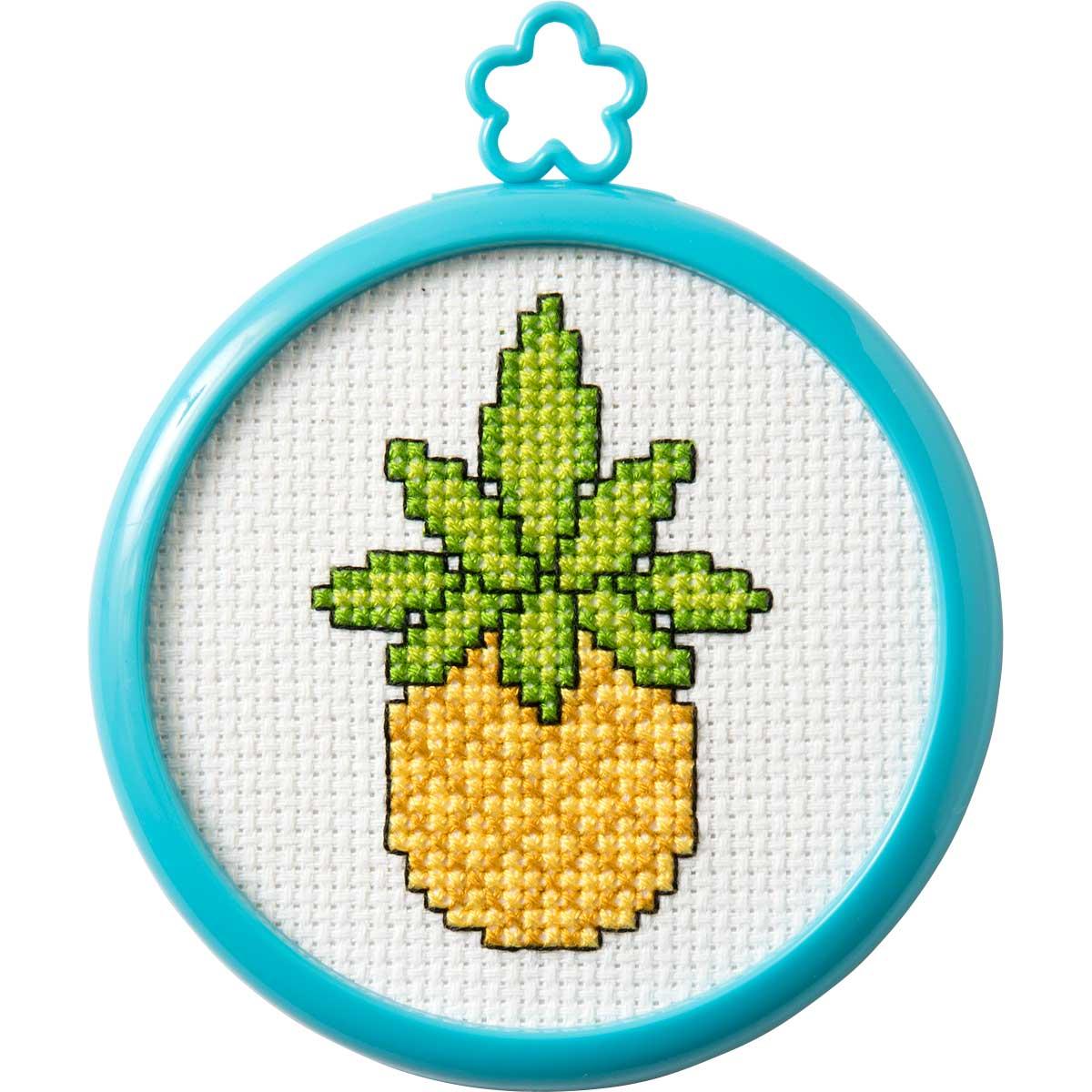 Bucilla ® My 1st Stitch™ - Counted Cross Stitch Kits - Mini - Tropical Pineapple - WM47815E