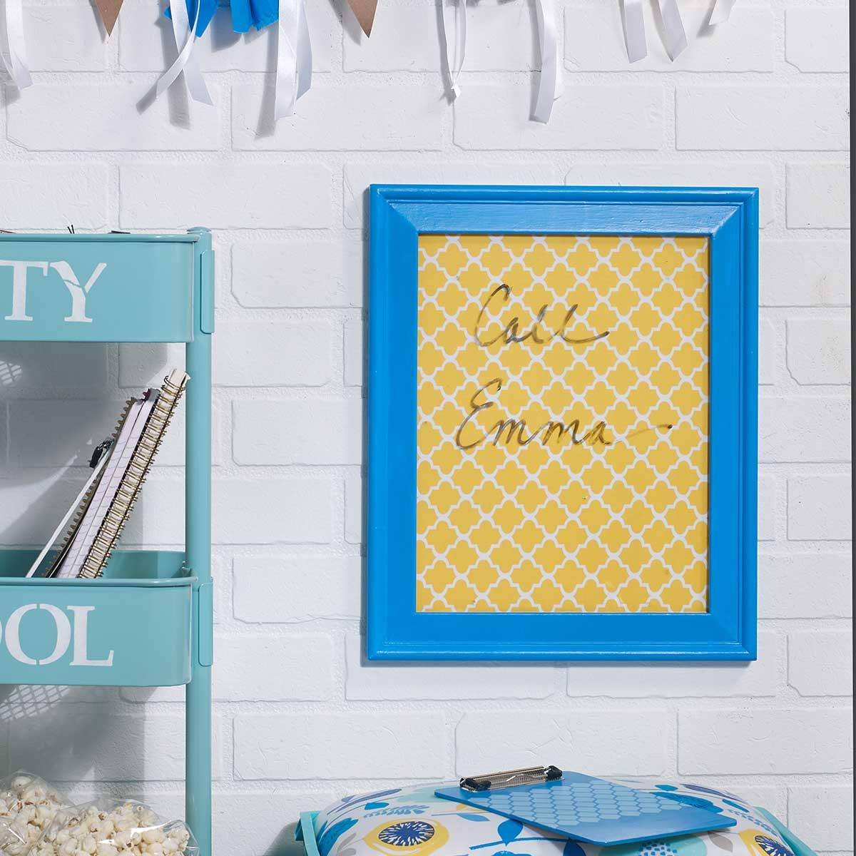 Customized Dry Erase Board Dorm Decorating Idea
