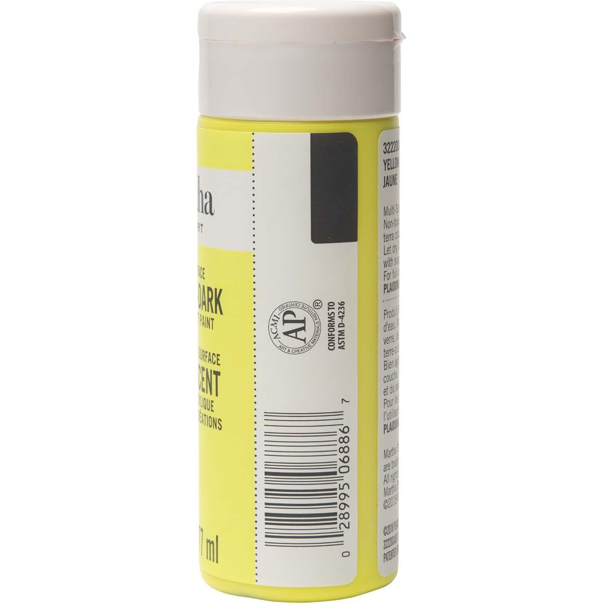 Martha Stewart ® Multi-Surface Glow-in-the-Dark Acrylic Craft Paint - Yellow, 6 oz. - 32220CA
