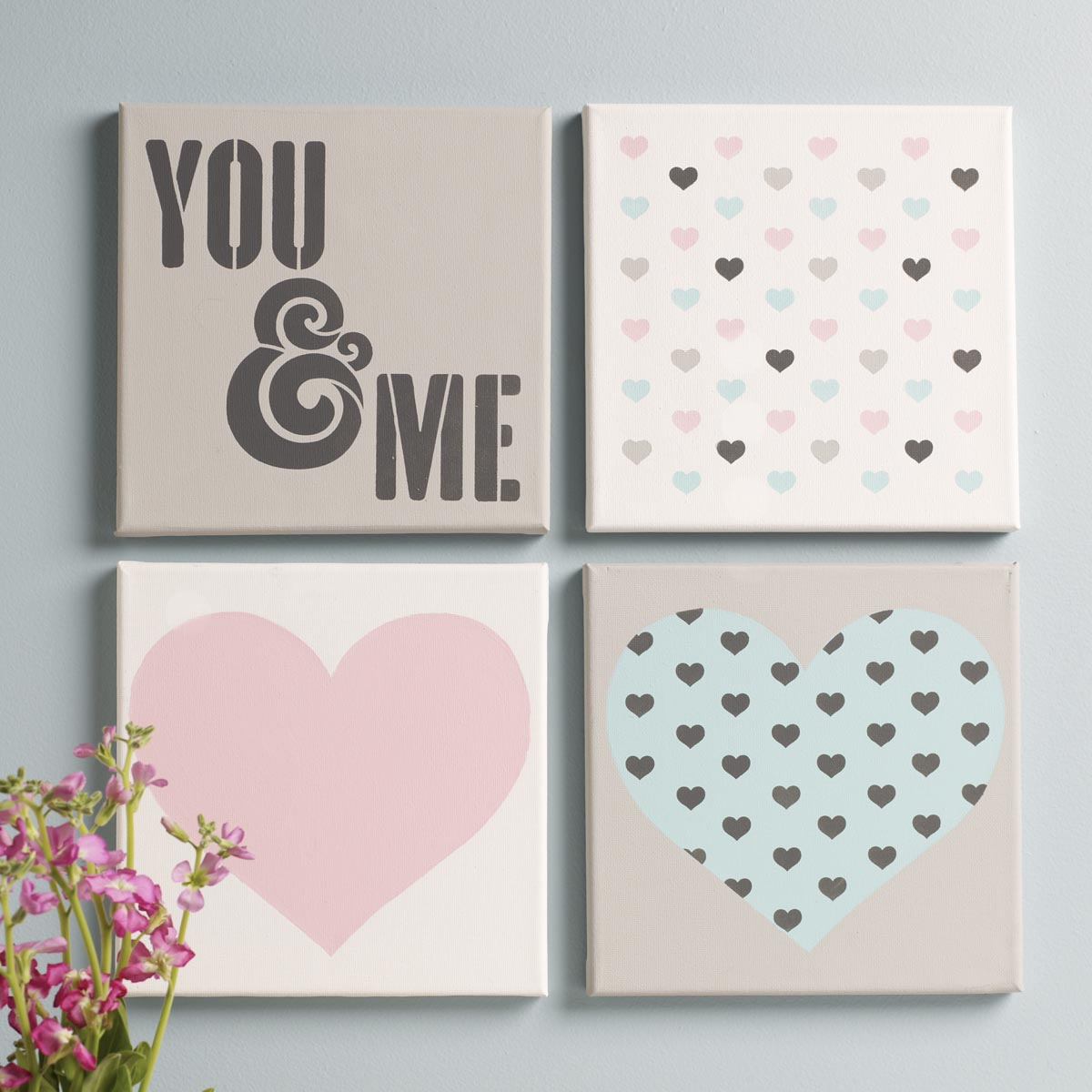 FolkArt ® Craft Stencils - Value Packs - You & Me