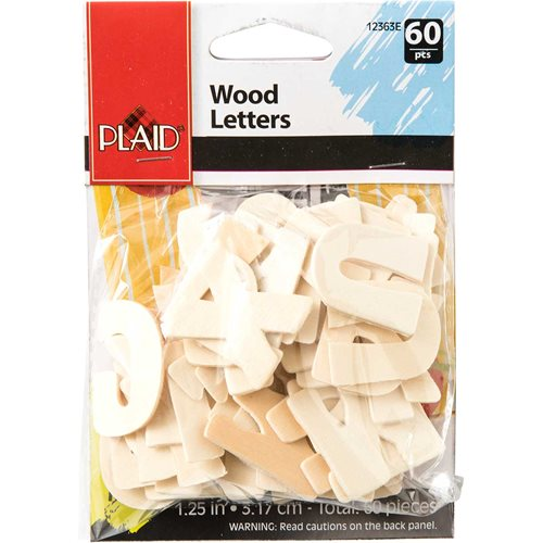 Plaid ® Wood Surfaces - Letter Packs - Bold
