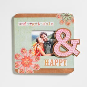 Decoupaged Ampersand Picture Frame
