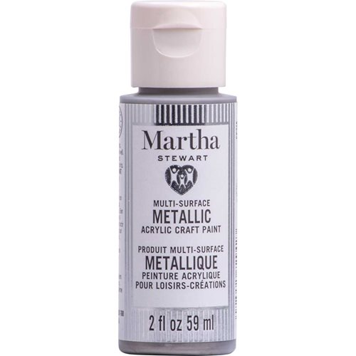 Martha Stewart ® Multi-Surface Metallic Acrylic Craft Paint CPSIA - Royal Silver, 2 oz. - 72942