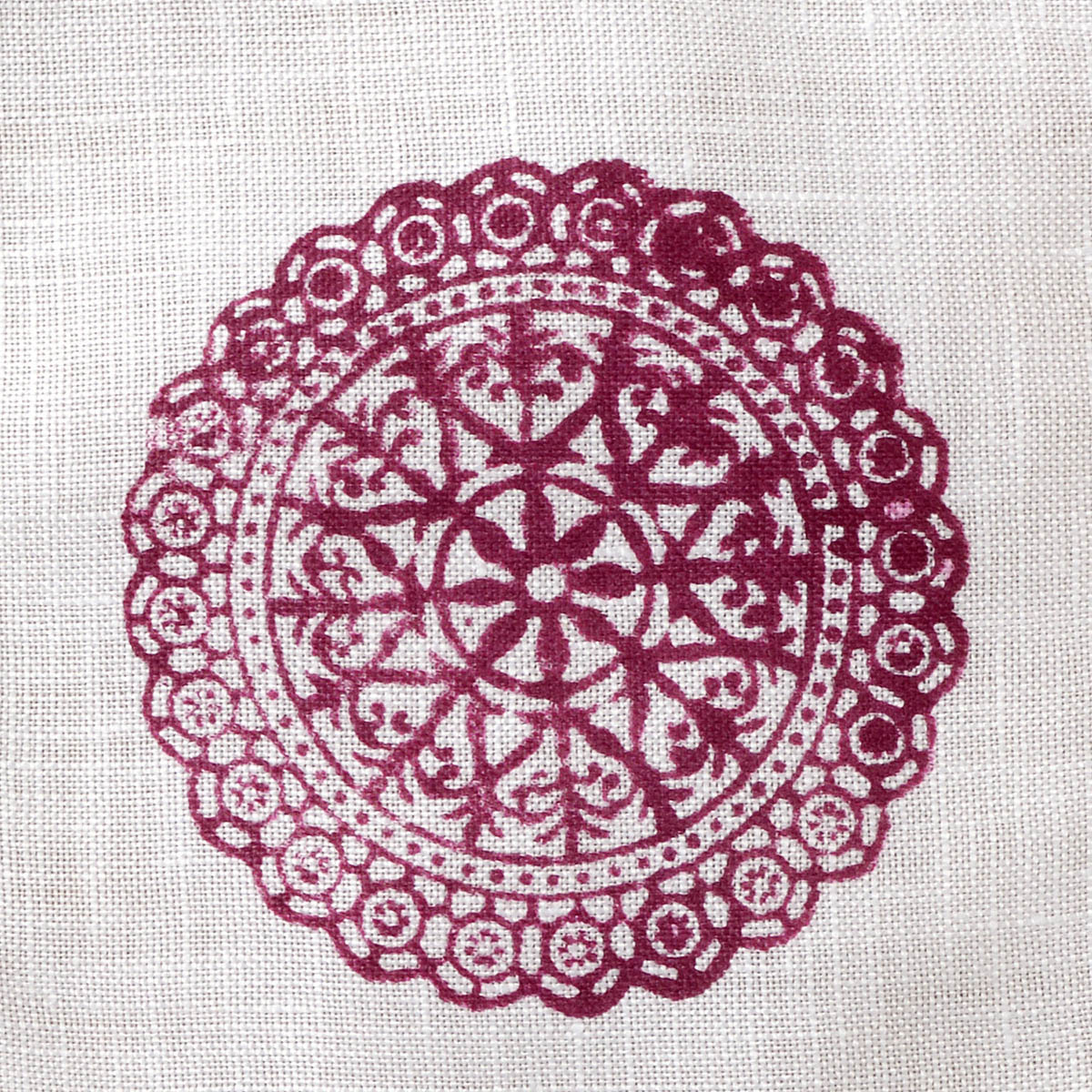Fabric Creations™ Block Printing Stamps - Medium - Lace Doily
