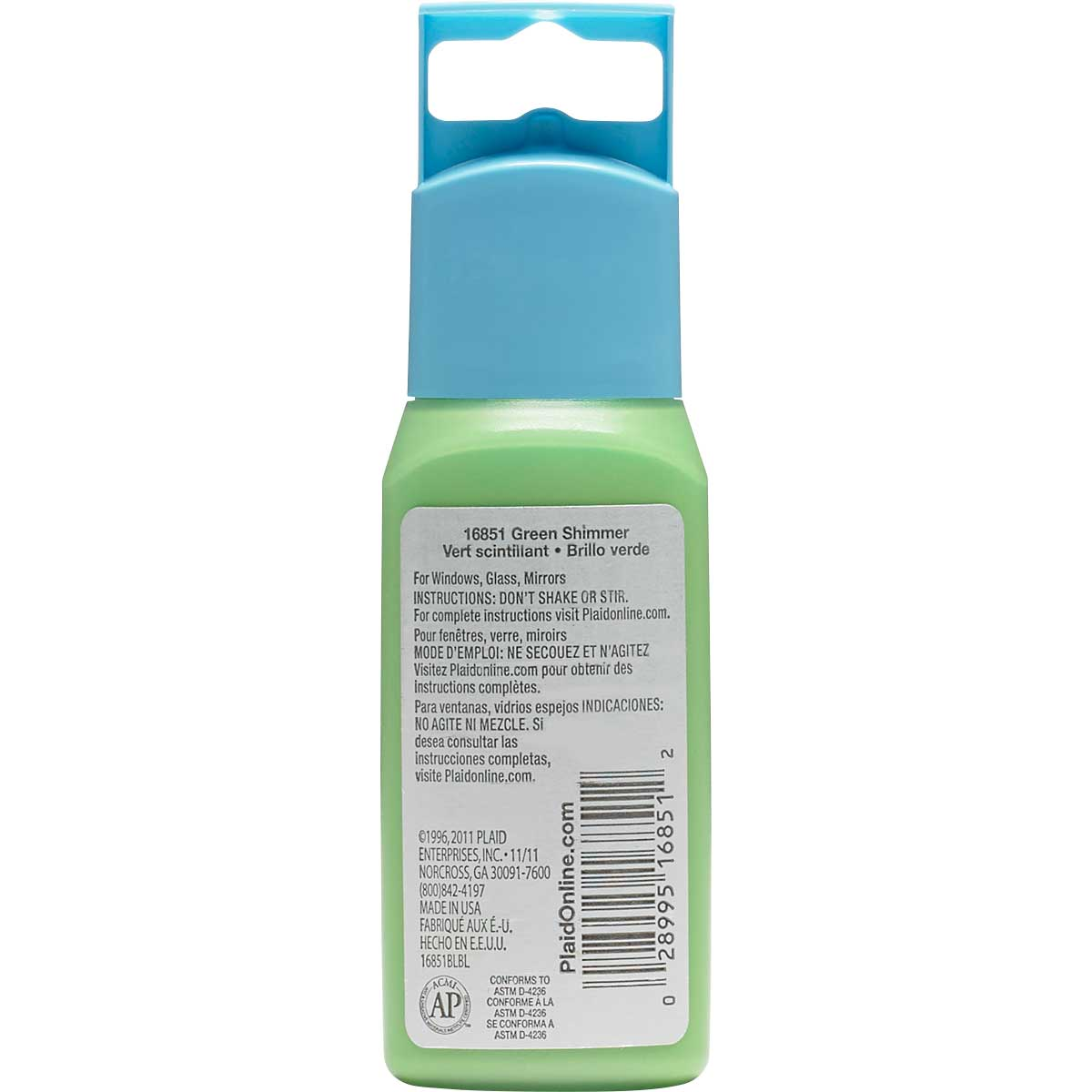 Gallery Glass ® Window Color™ - Green Shimmer, 2 oz. - 16851