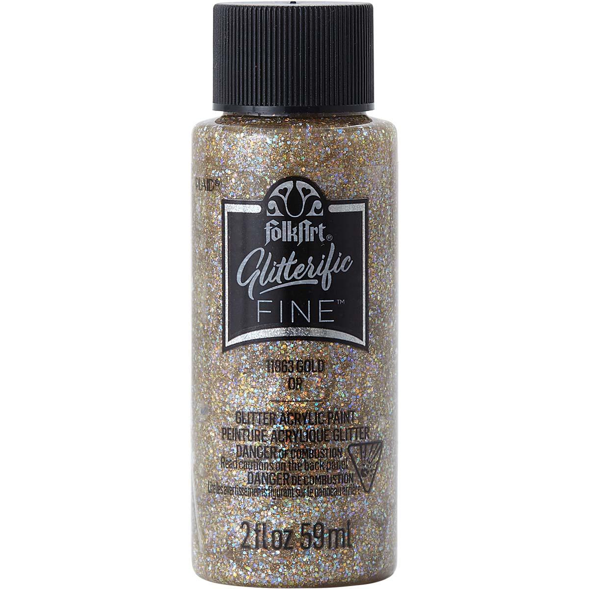 FolkArt ® Glitterific Fine™ Acrylic Paint - Gold, 2 oz. - 11863