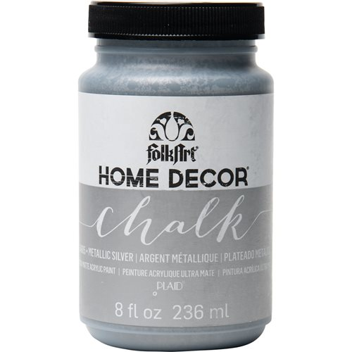 FolkArt ® Home Decor™ Chalk - Metallic Silver, 8 oz.