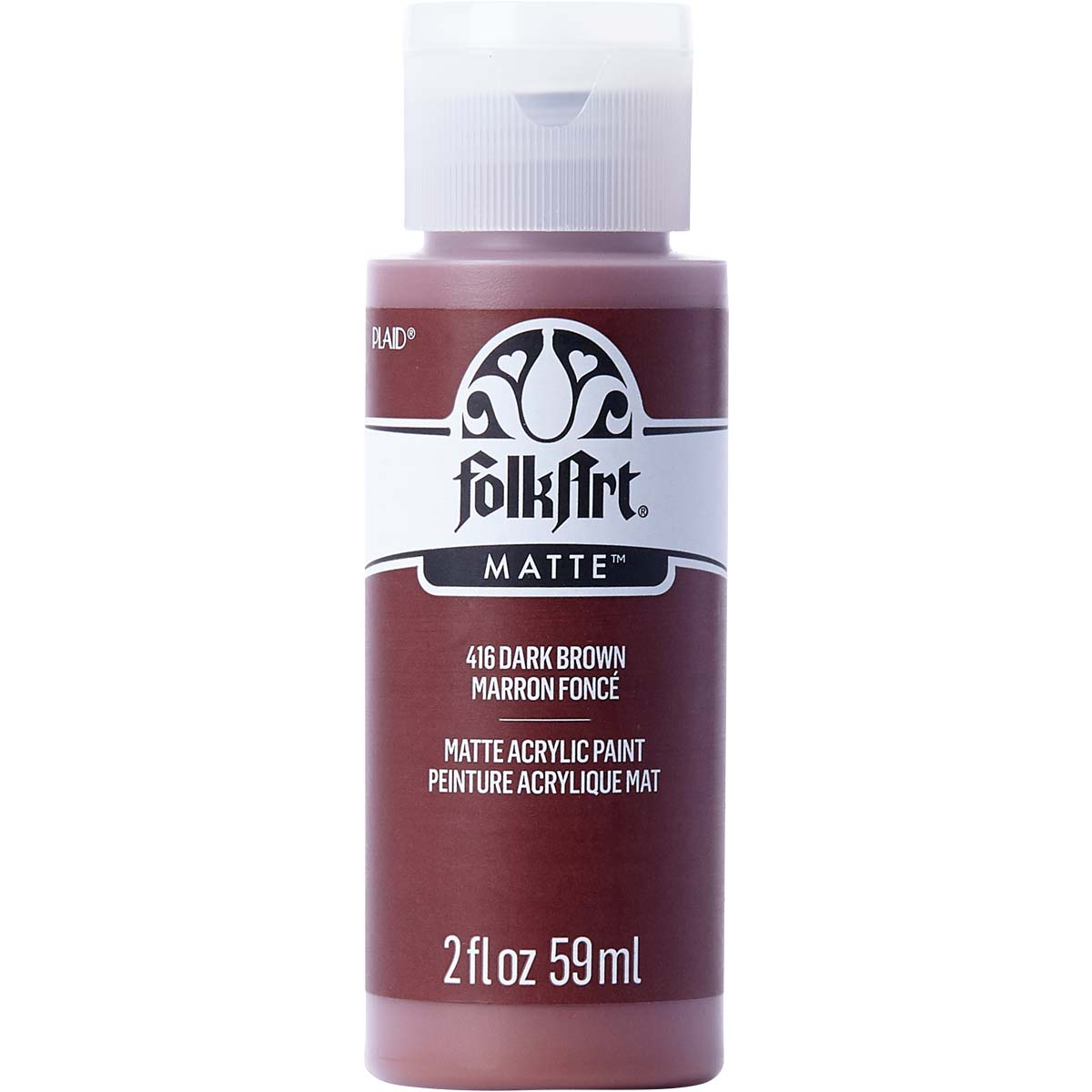 FolkArt ® Acrylic Colors - Dark Brown, 2 oz. - 416