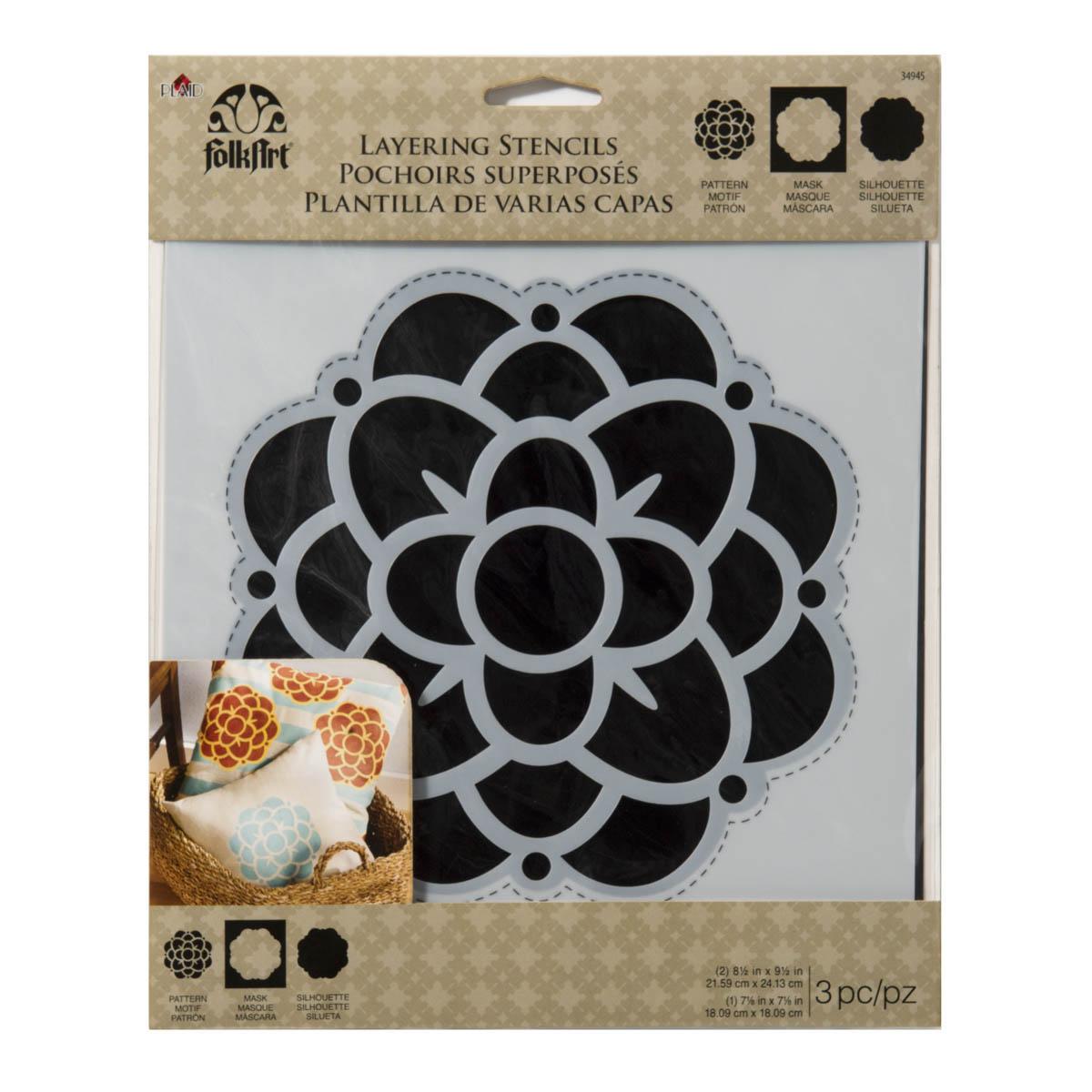 FolkArt ® Home Decor™ Layering Stencils - Flower