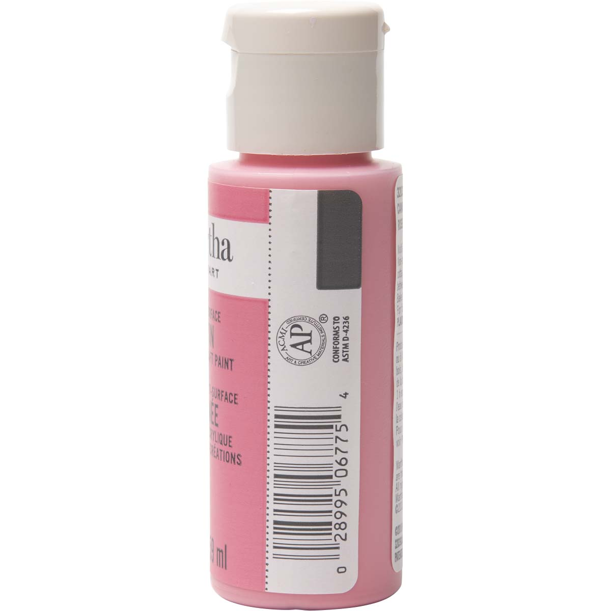 Martha Stewart ® Multi-Surface Satin Acrylic Craft Paint - Camellia Pink, 2 oz. - 32039CA