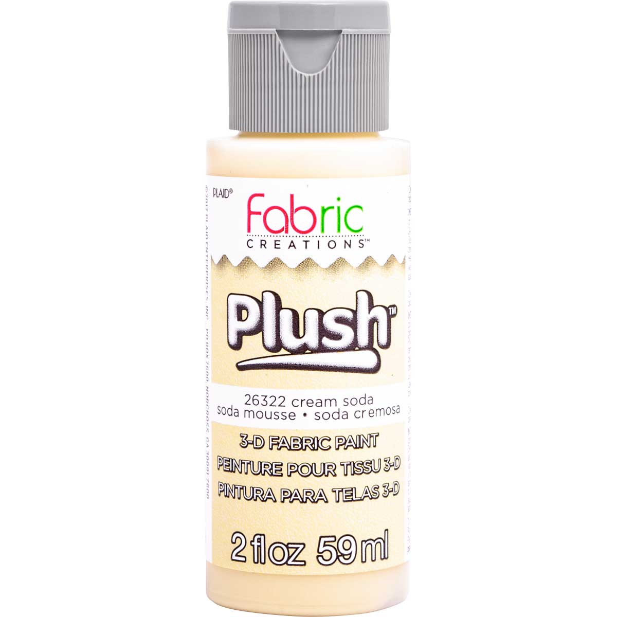 Fabric Creations™ Plush™ 3-D Fabric Paints - Cream Soda, 2 oz. - 26322