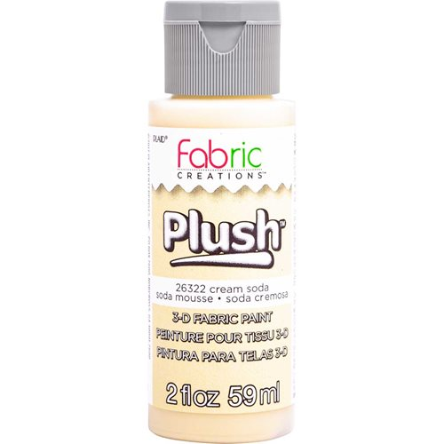 Fabric Creations™ Plush™ 3-D Fabric Paints - Cream Soda, 2 oz.