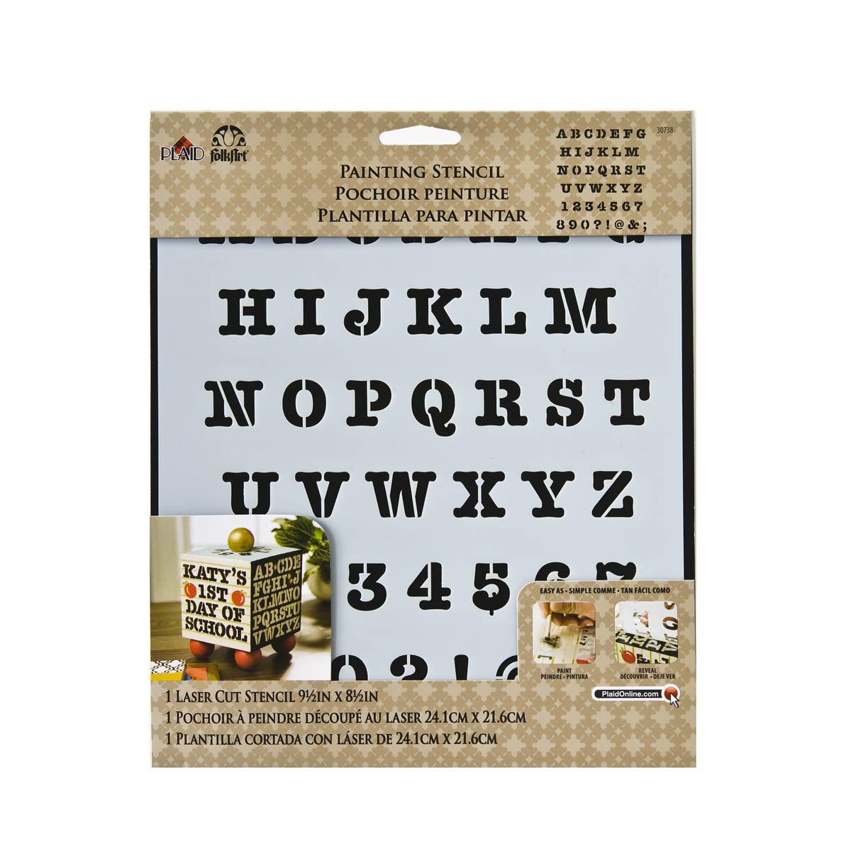 FolkArt ® Painting Stencils - Laser - Alphabet Heavy Typewriter