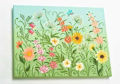 Field of Wildflowers Canvas