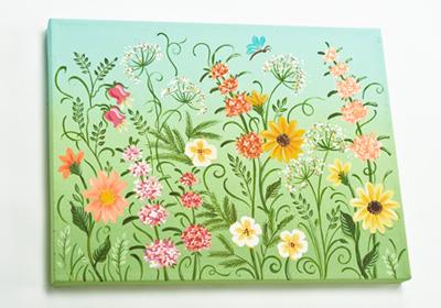 Field of Wildflowers Canvas