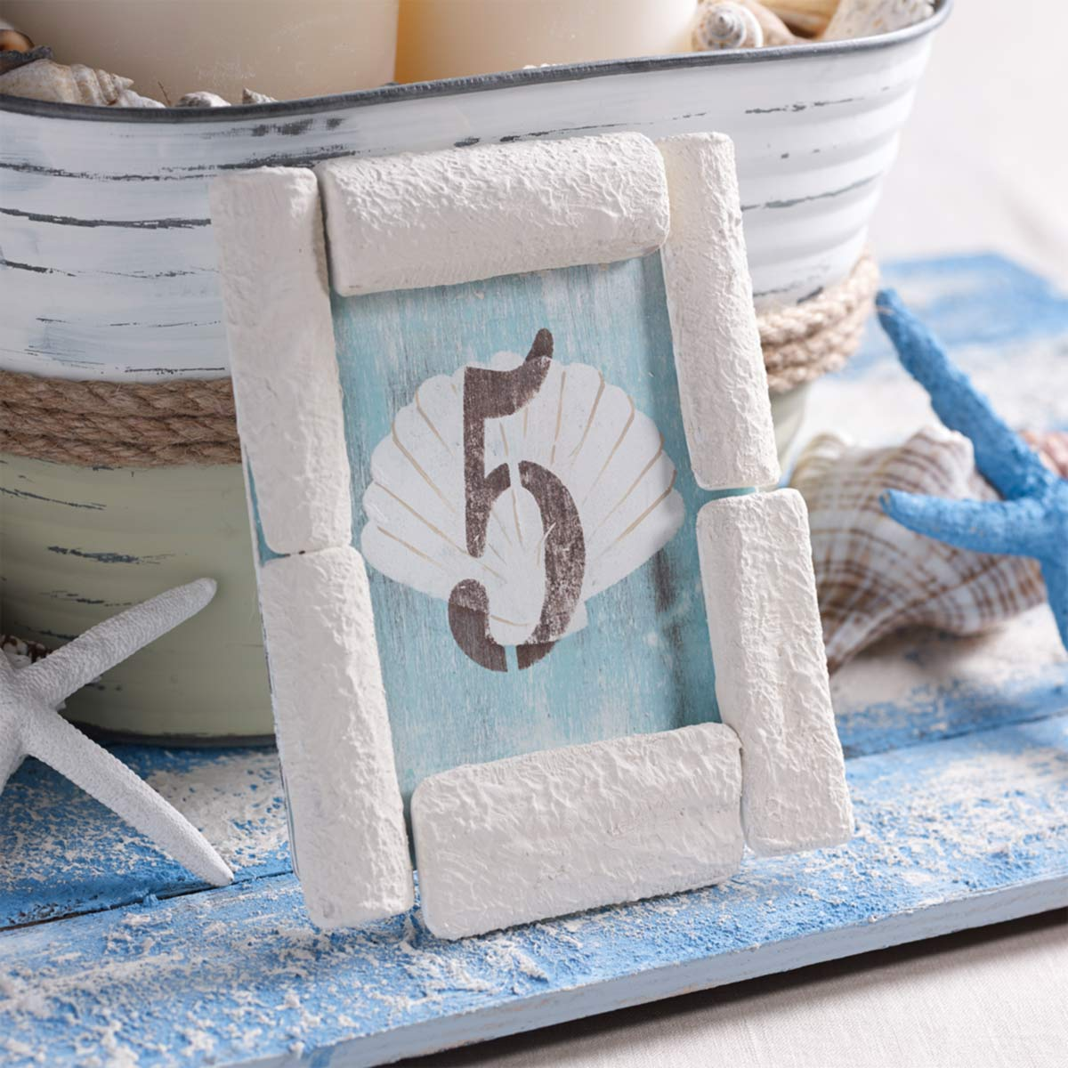 DIY Wedding Table Number for Beach Wedding