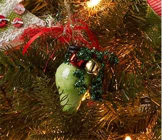 Wooden Christmas String Light Ornament