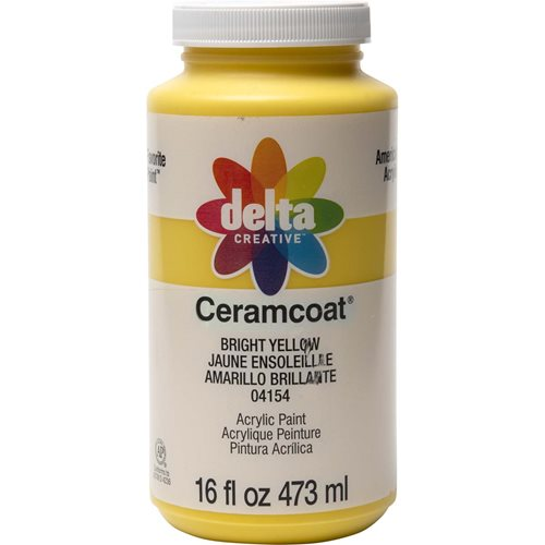 Delta Ceramcoat ® Acrylic Paint - Bright Yellow, 16 oz.