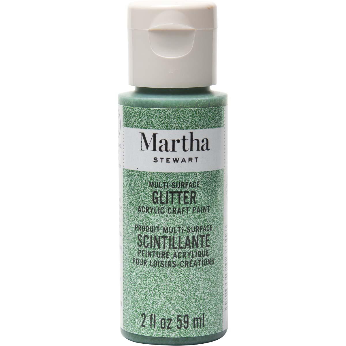 Martha Stewart ® Multi-Surface Glitter Acrylic Craft Paint - Verdelite, 2 oz. - 32159CA