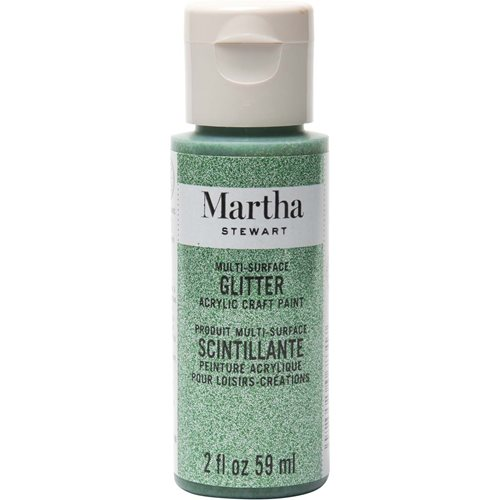 Martha Stewart ® Multi-Surface Glitter Acrylic Craft Paint - Verdelite, 2 oz. - 32159CA
