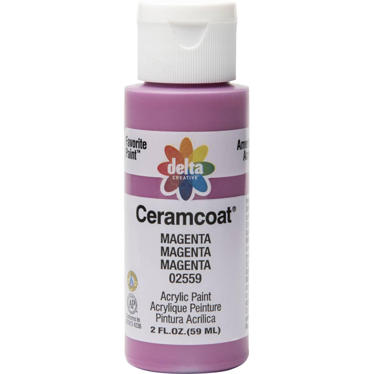 Delta Ceramcoat ® Acrylic Paint - Magenta, 2 oz.