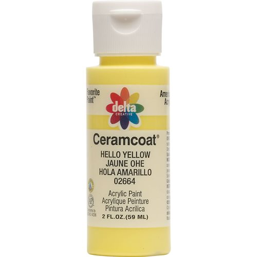 Delta Ceramcoat ® Acrylic Paint - Hello Yellow, 2 oz. - 026640202W