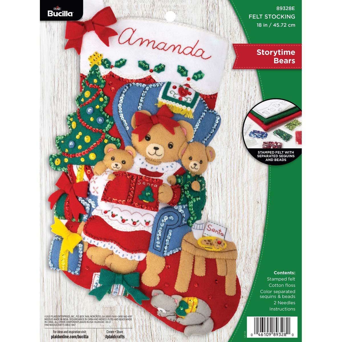 Bucilla ® Seasonal - Felt - Stocking Kits - Storytime Bears - 89328E