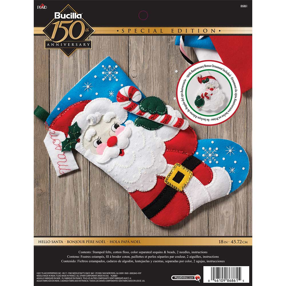 Bucilla ® Seasonal - Felt - Stocking Kits - Hello Santa - 86861