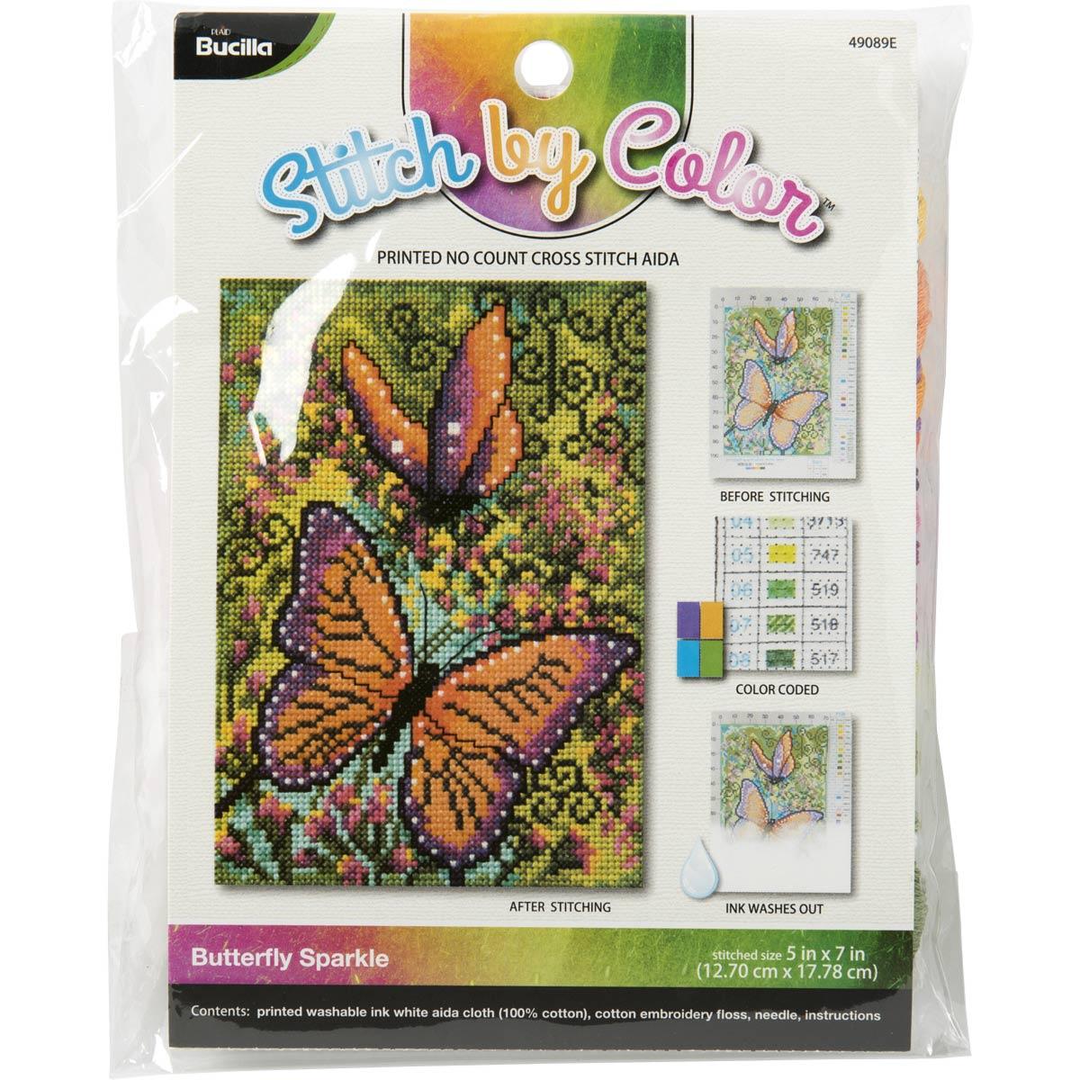 Bucilla ® Cross Stitch - Stitch by Color - Butterfly Sparkles