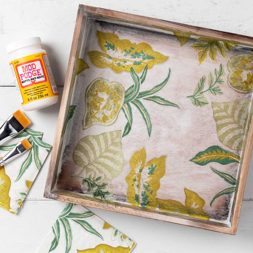 Napkin Decoupage DIY Idea - Botanical Box