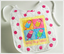 Lolly Pop Lover Bib
